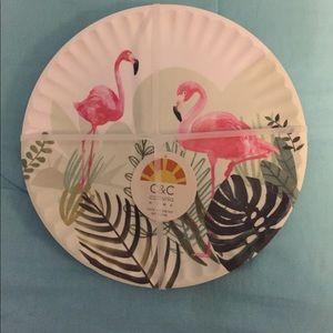 6 Flamingo Plates